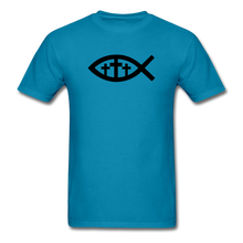 Load image into Gallery viewer, Three Crosses Tee Bright - turquoise