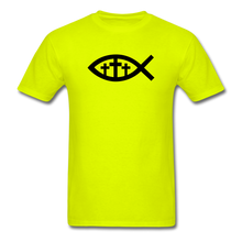 Load image into Gallery viewer, Three Crosses Tee Bright - safety green