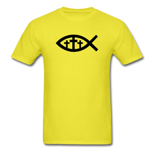 Three Crosses Tee Bright - yellow