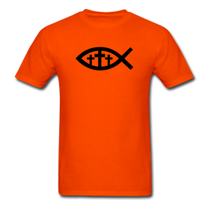 Three Crosses Tee Bright - orange