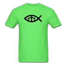 Load image into Gallery viewer, Three Crosses Tee Bright - kiwi