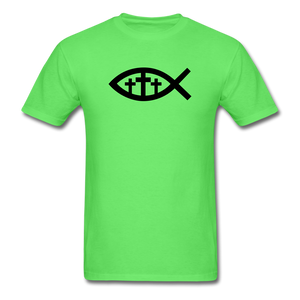 Three Crosses Tee Bright - kiwi