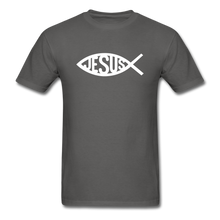 Load image into Gallery viewer, Jesus Fish Tee Dark - charcoal