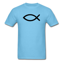 Load image into Gallery viewer, Blank Jesus Fish Bright - aquatic blue
