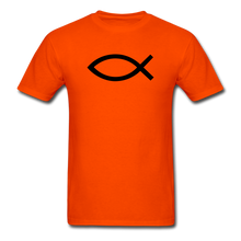 Load image into Gallery viewer, Blank Jesus Fish Bright - orange