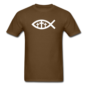 Three Crosses Tee Dark - brown