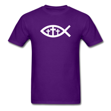 Load image into Gallery viewer, Three Crosses Tee Dark - purple