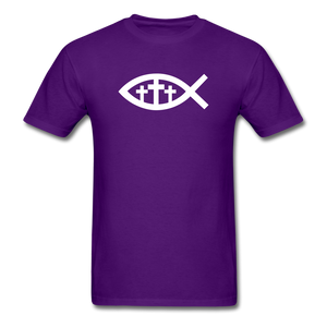 Three Crosses Tee Dark - purple