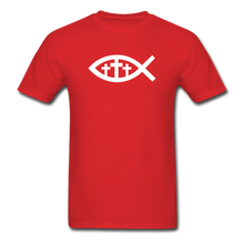 Load image into Gallery viewer, Three Crosses Tee Dark - red