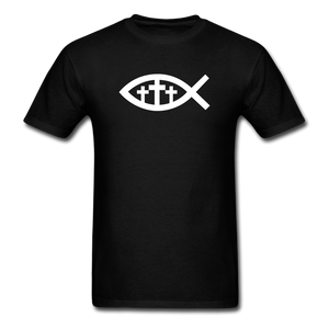 Three Crosses Tee Dark - black