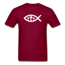 Load image into Gallery viewer, Three Crosses Tee Dark - burgundy