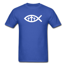 Load image into Gallery viewer, Three Crosses Tee Dark - royal blue
