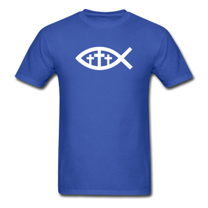 Three Crosses Tee Dark - royal blue