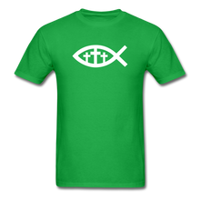 Load image into Gallery viewer, Three Crosses Tee Dark - bright green