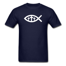 Load image into Gallery viewer, Three Crosses Tee Dark - navy