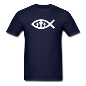 Three Crosses Tee Dark - navy