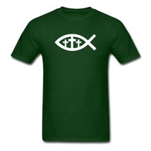Load image into Gallery viewer, Three Crosses Tee Dark - forest green