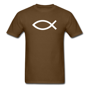 Blank Jesus Fish Dark - brown