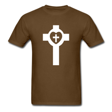 Load image into Gallery viewer, Lutheran Cross tee Dark - brown