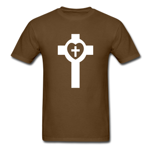 Lutheran Cross tee Dark - brown