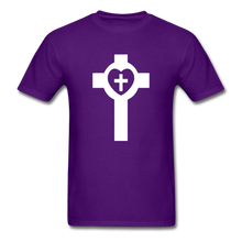 Load image into Gallery viewer, Lutheran Cross tee Dark - purple