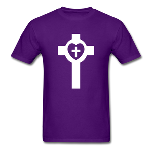 Lutheran Cross tee Dark - purple
