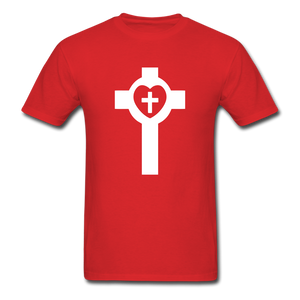 Lutheran Cross tee Dark - red