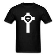 Load image into Gallery viewer, Lutheran Cross tee Dark - black