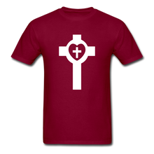 Load image into Gallery viewer, Lutheran Cross tee Dark - burgundy