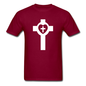 Lutheran Cross tee Dark - burgundy