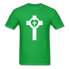 Load image into Gallery viewer, Lutheran Cross tee Dark - bright green