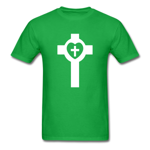 Lutheran Cross tee Dark - bright green
