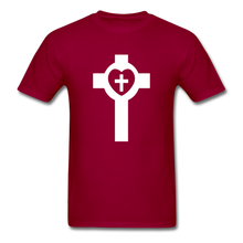 Load image into Gallery viewer, Lutheran Cross tee Dark - dark red