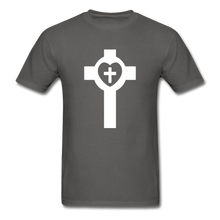 Load image into Gallery viewer, Lutheran Cross tee Dark - charcoal