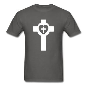 Lutheran Cross tee Dark - charcoal