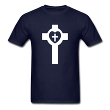 Load image into Gallery viewer, Lutheran Cross tee Dark - navy