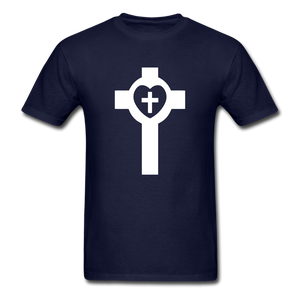 Lutheran Cross tee Dark - navy