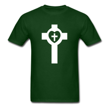 Load image into Gallery viewer, Lutheran Cross tee Dark - forest green