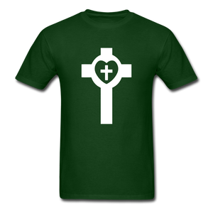 Lutheran Cross tee Dark - forest green