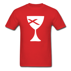 Communion Cup tee Dark - red