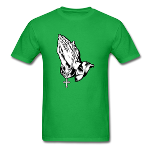 Praying Hands Tee Bright - bright green
