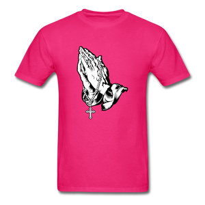 Praying Hands Tee Bright - fuchsia