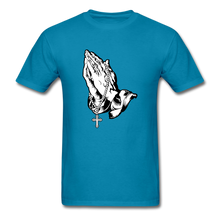 Load image into Gallery viewer, Praying Hands Tee Bright - turquoise