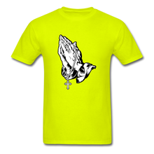 Load image into Gallery viewer, Praying Hands Tee Bright - safety green