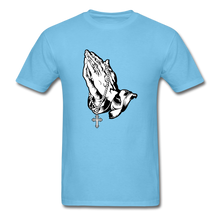 Load image into Gallery viewer, Praying Hands Tee Bright - aquatic blue