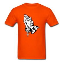 Load image into Gallery viewer, Praying Hands Tee Bright - orange