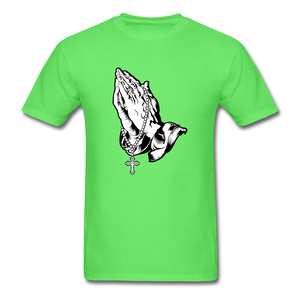 Praying Hands Tee Bright - kiwi