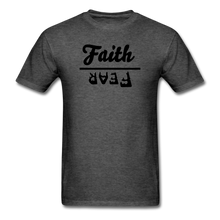 Load image into Gallery viewer, Faith over Fear Mineral Tee - heather black