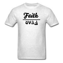Load image into Gallery viewer, Faith over Fear Mineral Tee - light heather gray