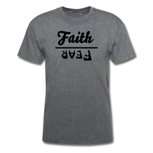 Faith over Fear Mineral Tee - mineral charcoal gray